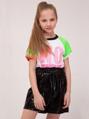 Комплект для девочки: футболка, шорты