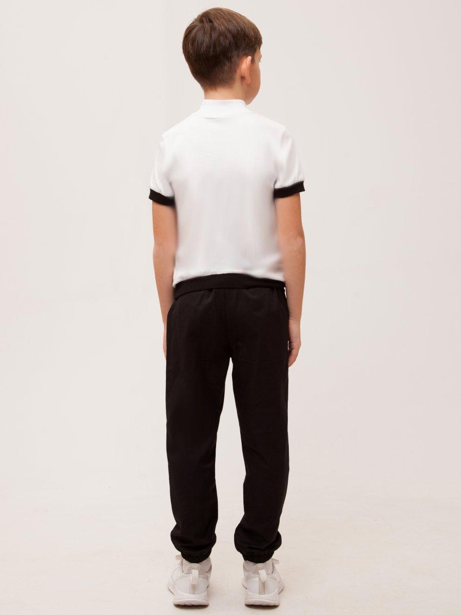Брюки прямого силуэта со средней посадкой для мальчика, цвет: черный