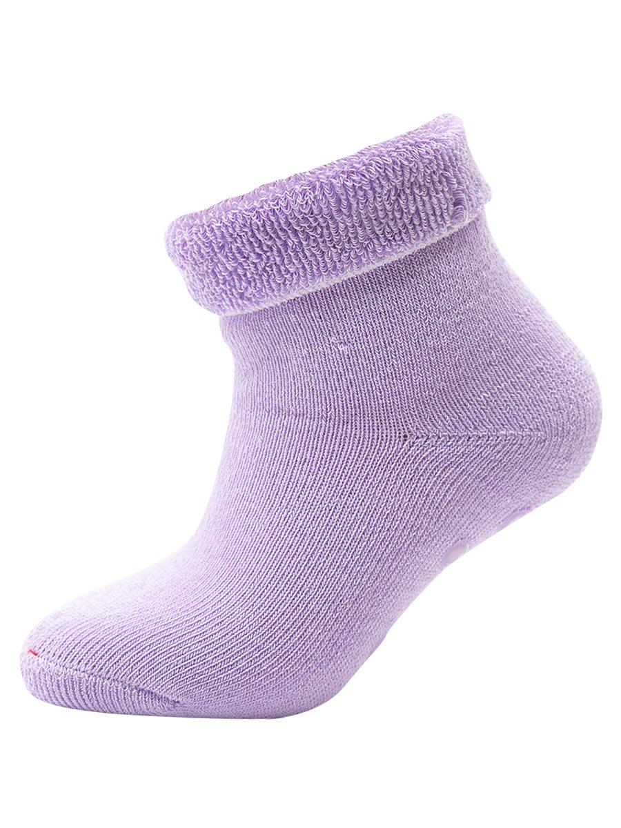 Носки детские со стопперами, цвет: сиреневый