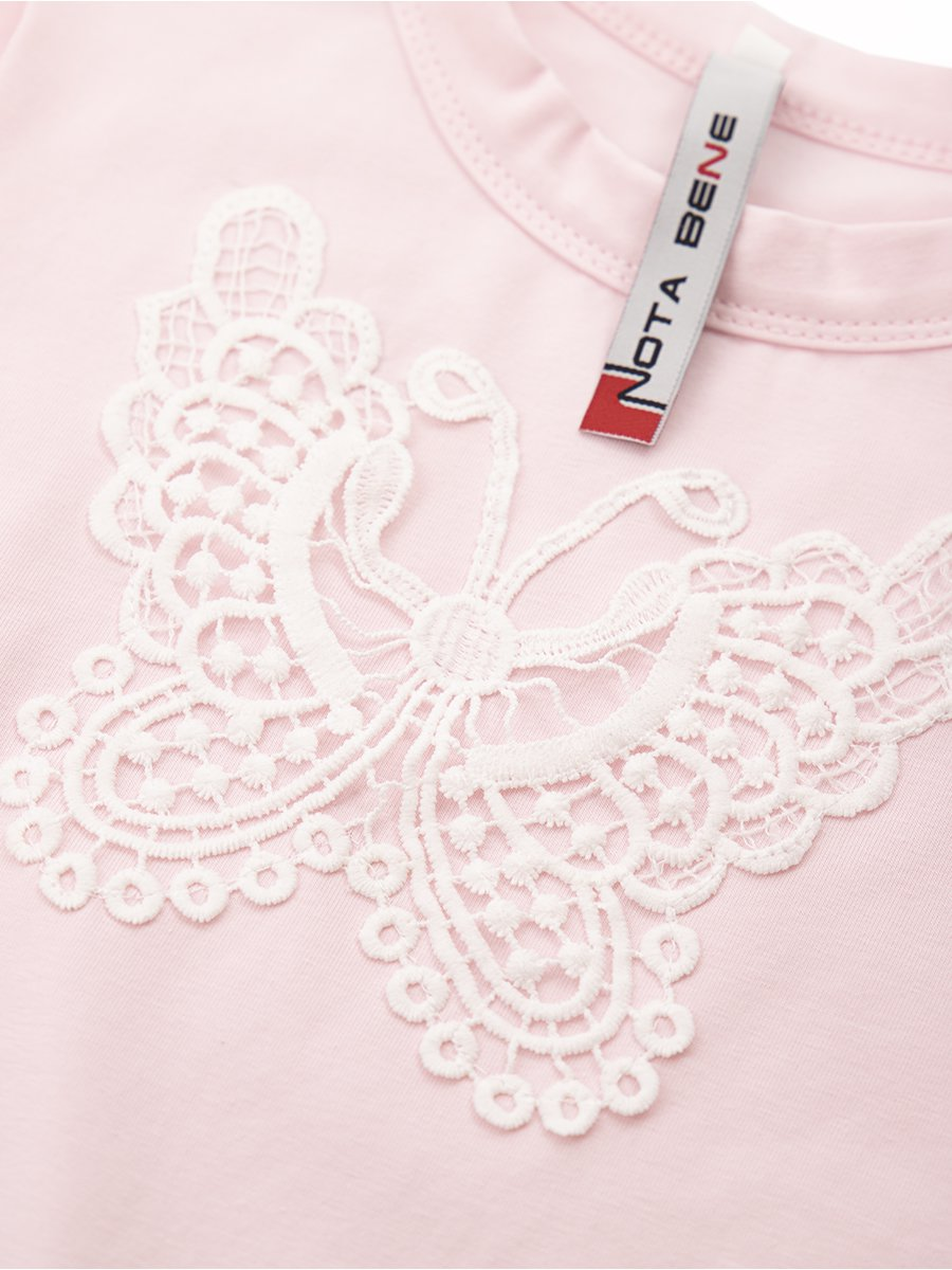 Блузка прямого силуэта, цвет: светло-розовый