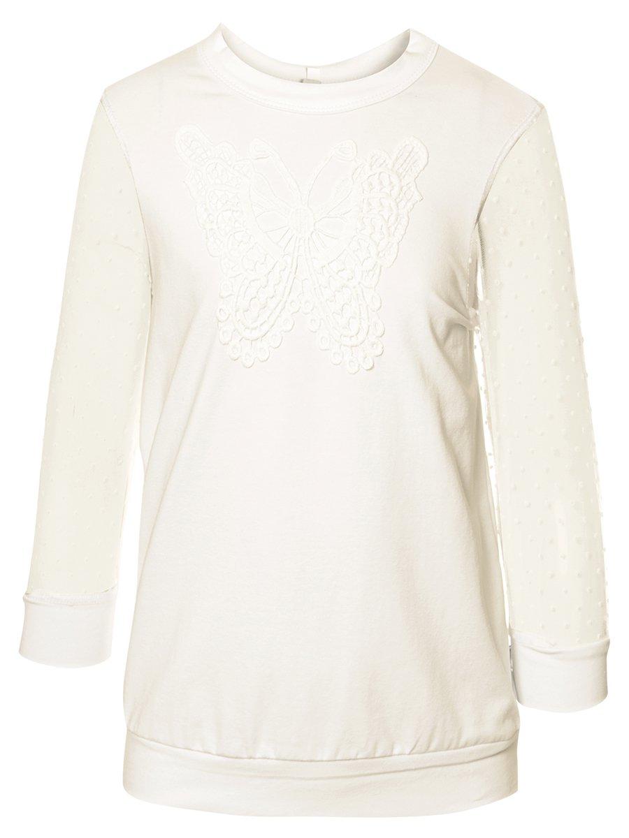 Блузка прямого силуэта, цвет: молочный