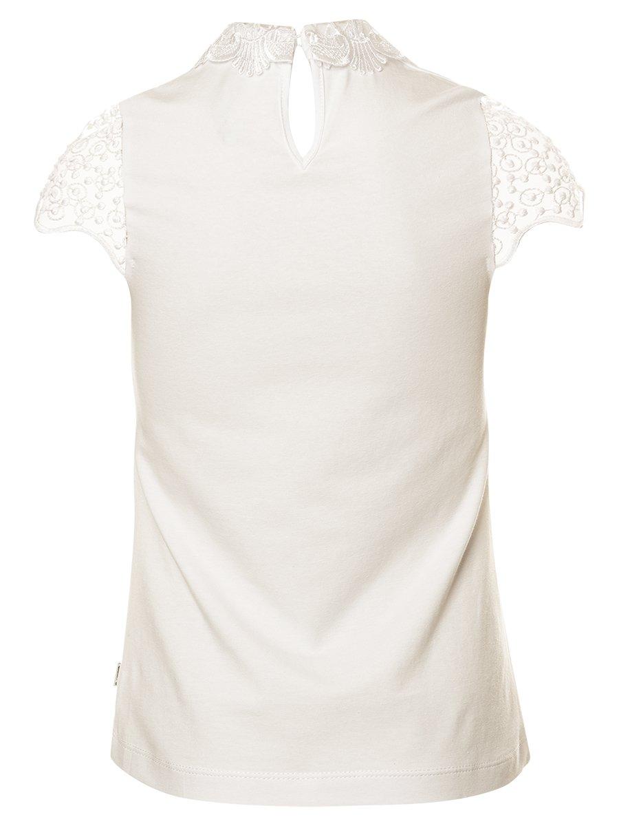 Блузка прилегающего силуэта, цвет: молочный