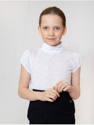 Водолазка для девочки из ажурного полотна
