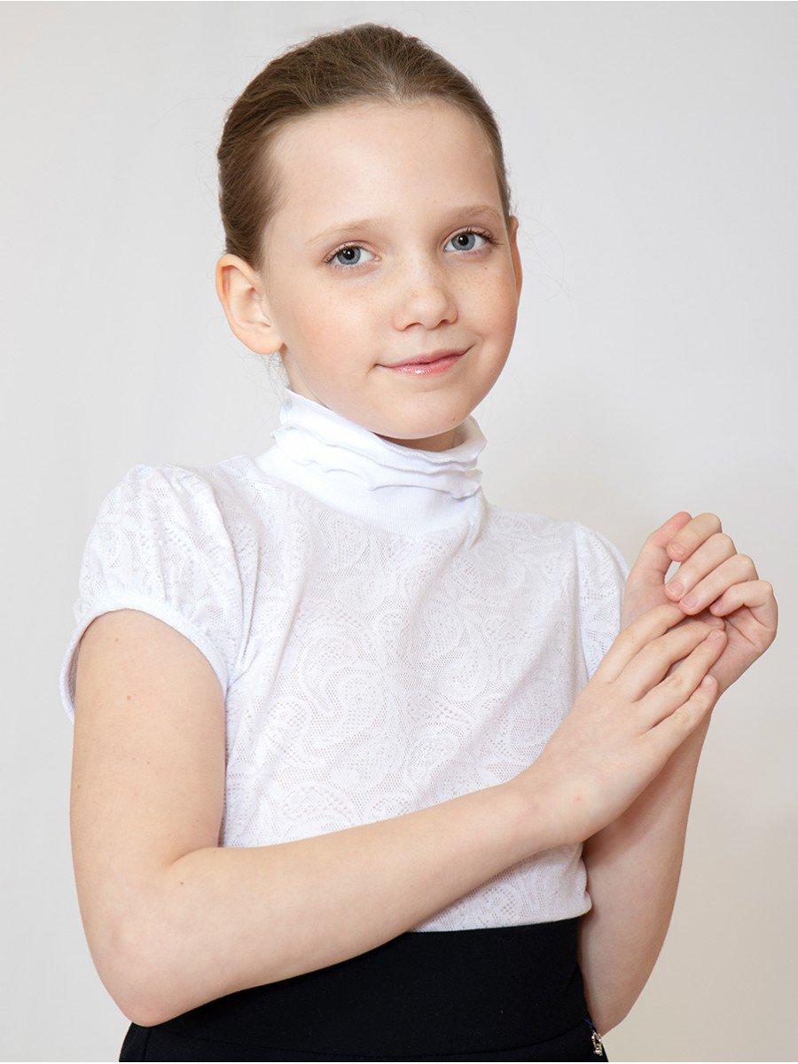 Водолазка для девочки, цвет: белый