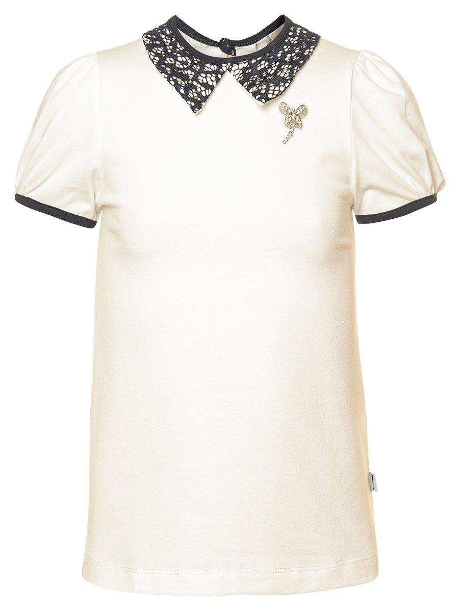 Блузка трикотажная, цвет: молочный