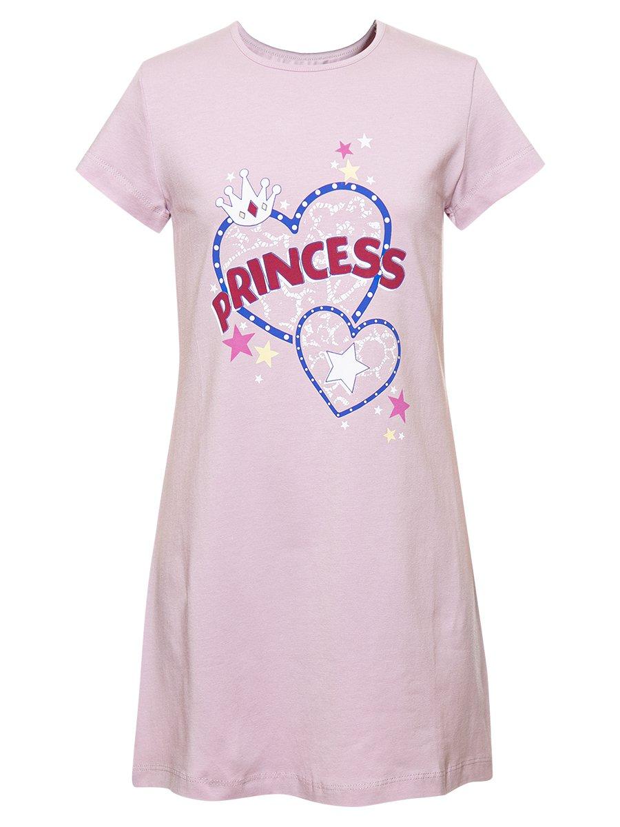 Ночная сорочка для девочки, цвет: лиловый