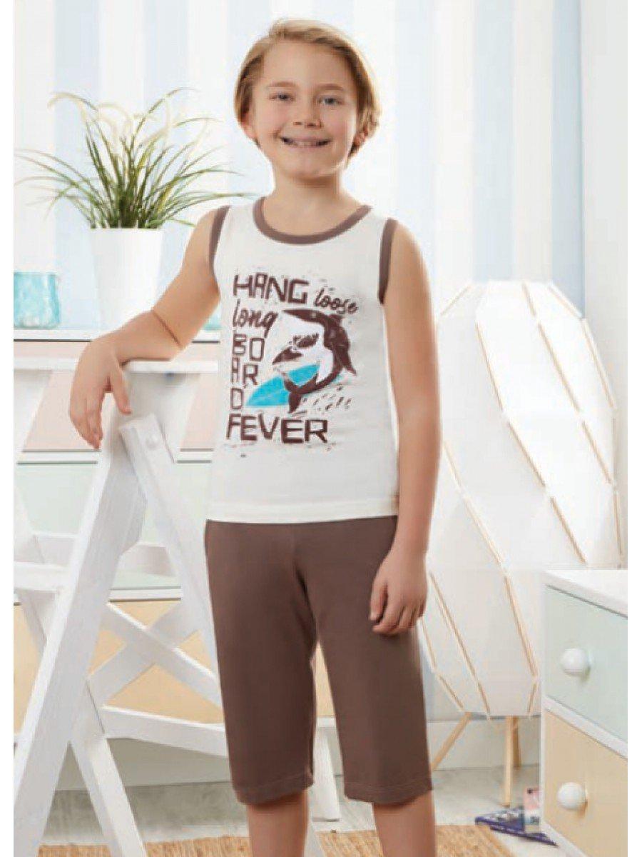 Пижама для мальчика, цвет: молочный