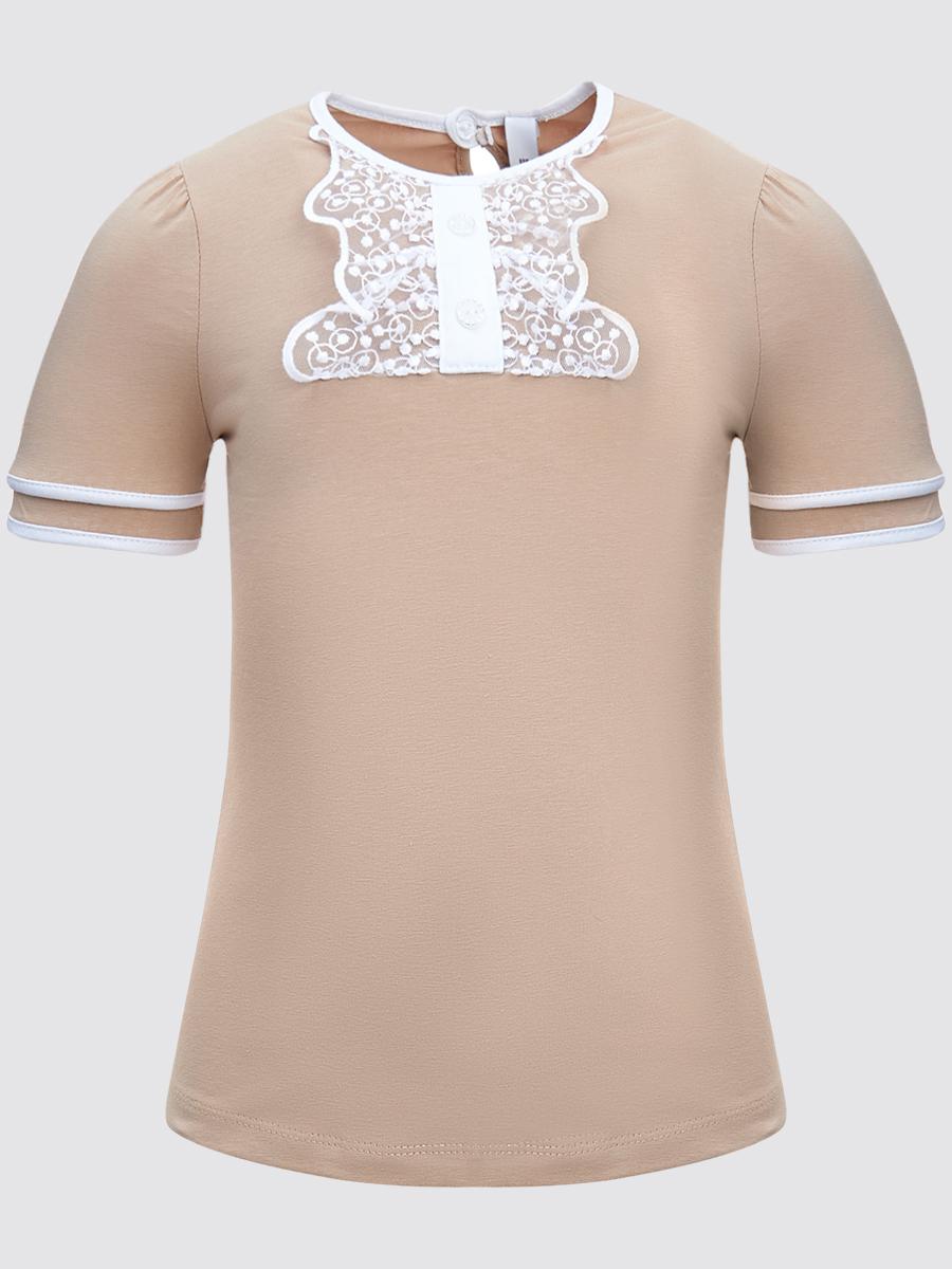 Блузка прилегающего силуэта, цвет: кэмел