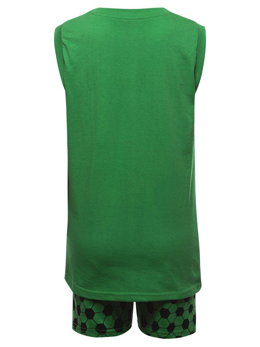 Комплект для мальчика: майка и шорты, цвет: зеленый