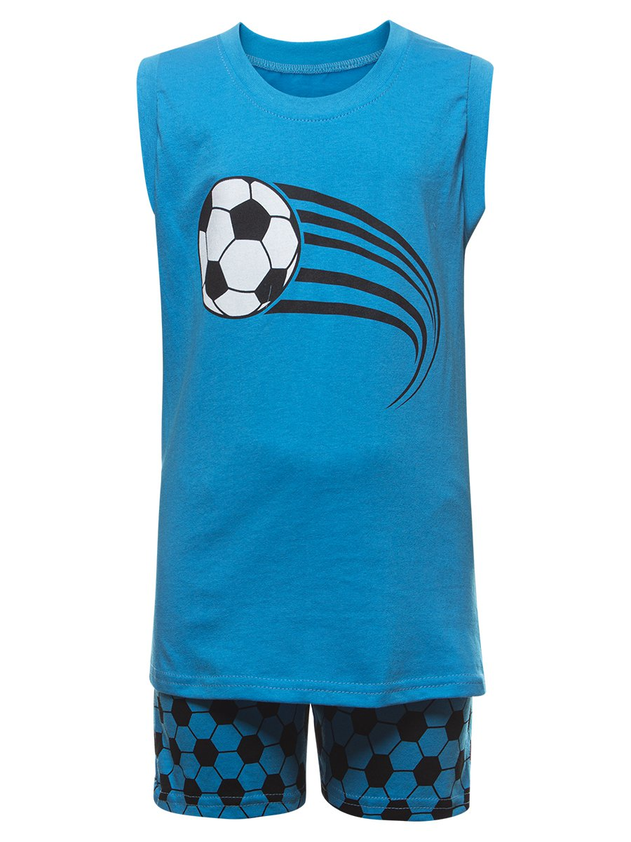 Комплект для мальчика: майка и шорты, цвет: бирюзовый