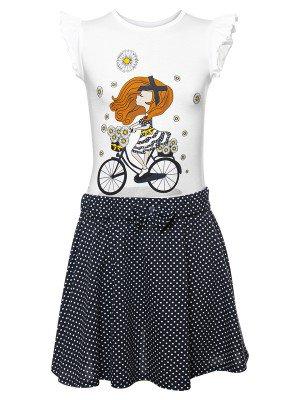 Комплект для девочки: футболка и юбка