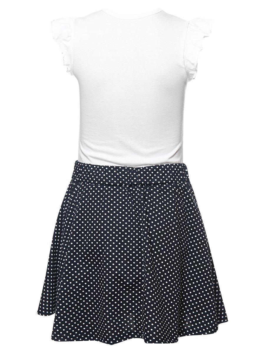 Комплект для девочки: футболка и юбка, цвет: белый