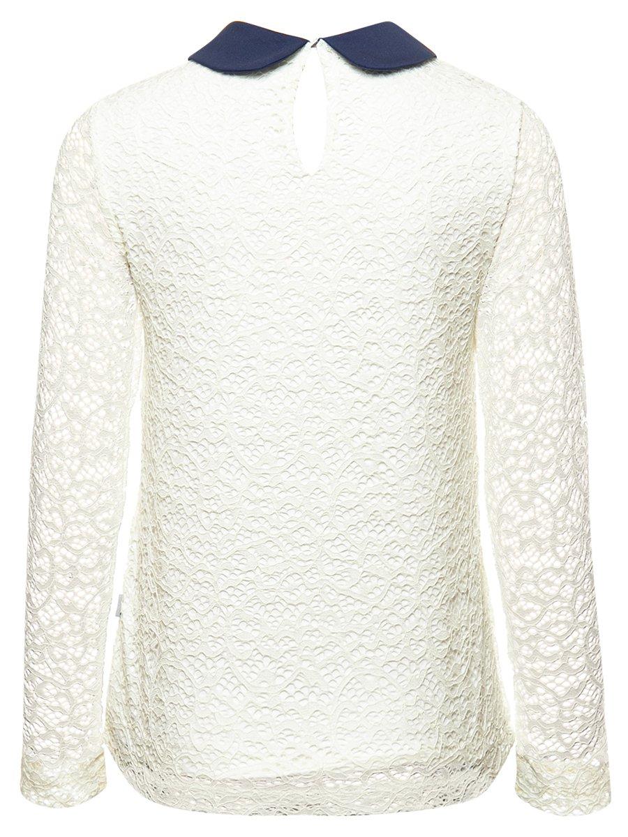 Блузка полуприлегающего силуэта, цвет: молочный