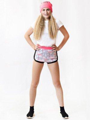 Шорты прямого силуэта укороченные для девочки