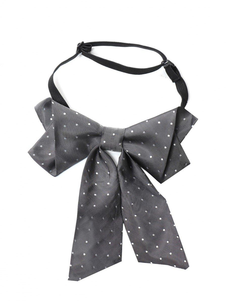 Галстук-бабочка для девочки с регулируемой застежкой, цвет: серый