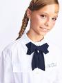 Галстук-бабочка для девочки с регулируемой застежкой, цвет: темно-синий