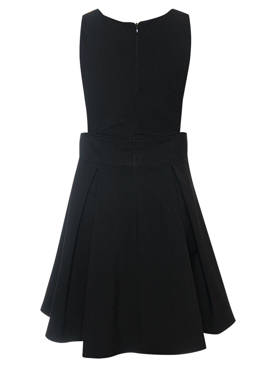 Сарафан с расклешенной юбкой в складку, цвет: черный