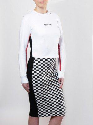 Комплект женский:свитшот укороченный и юбка прилегающего силуэта