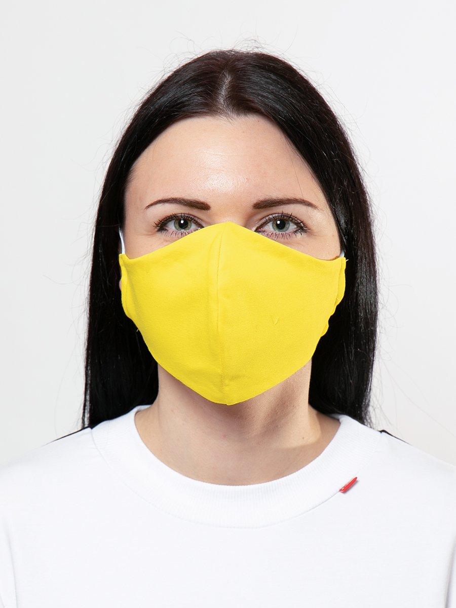 Маска защитная многоразовая, цвет: желтый