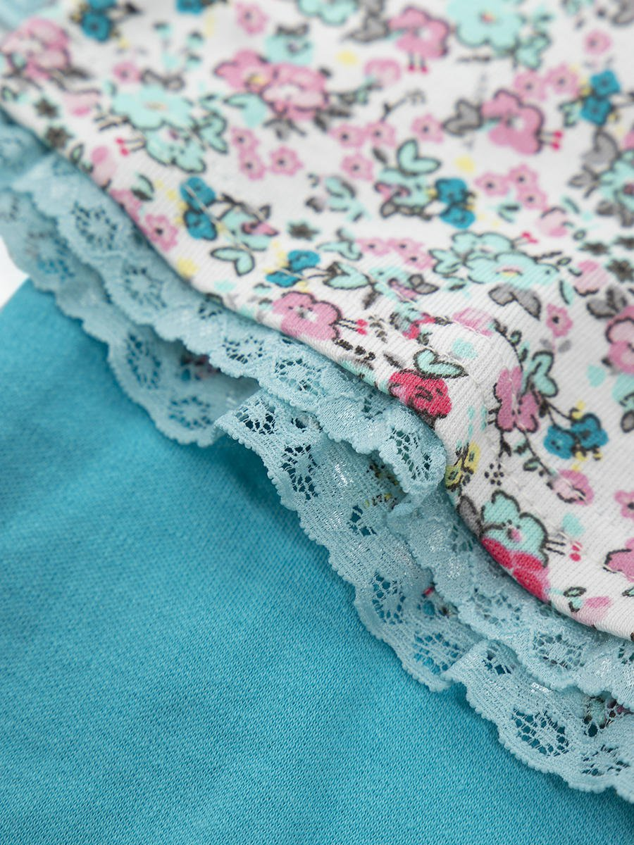 Комплект для девочки: лонгслив и штанишки, цвет: бирюзовый