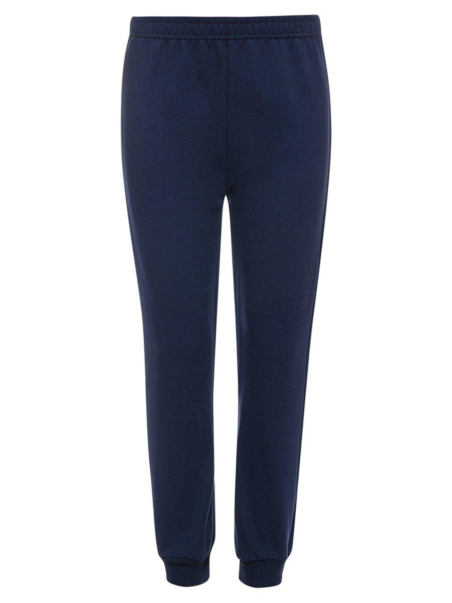 Костюм спортивный:свитшот и брюки зауженные со средней посадкой, цвет: темно-синий