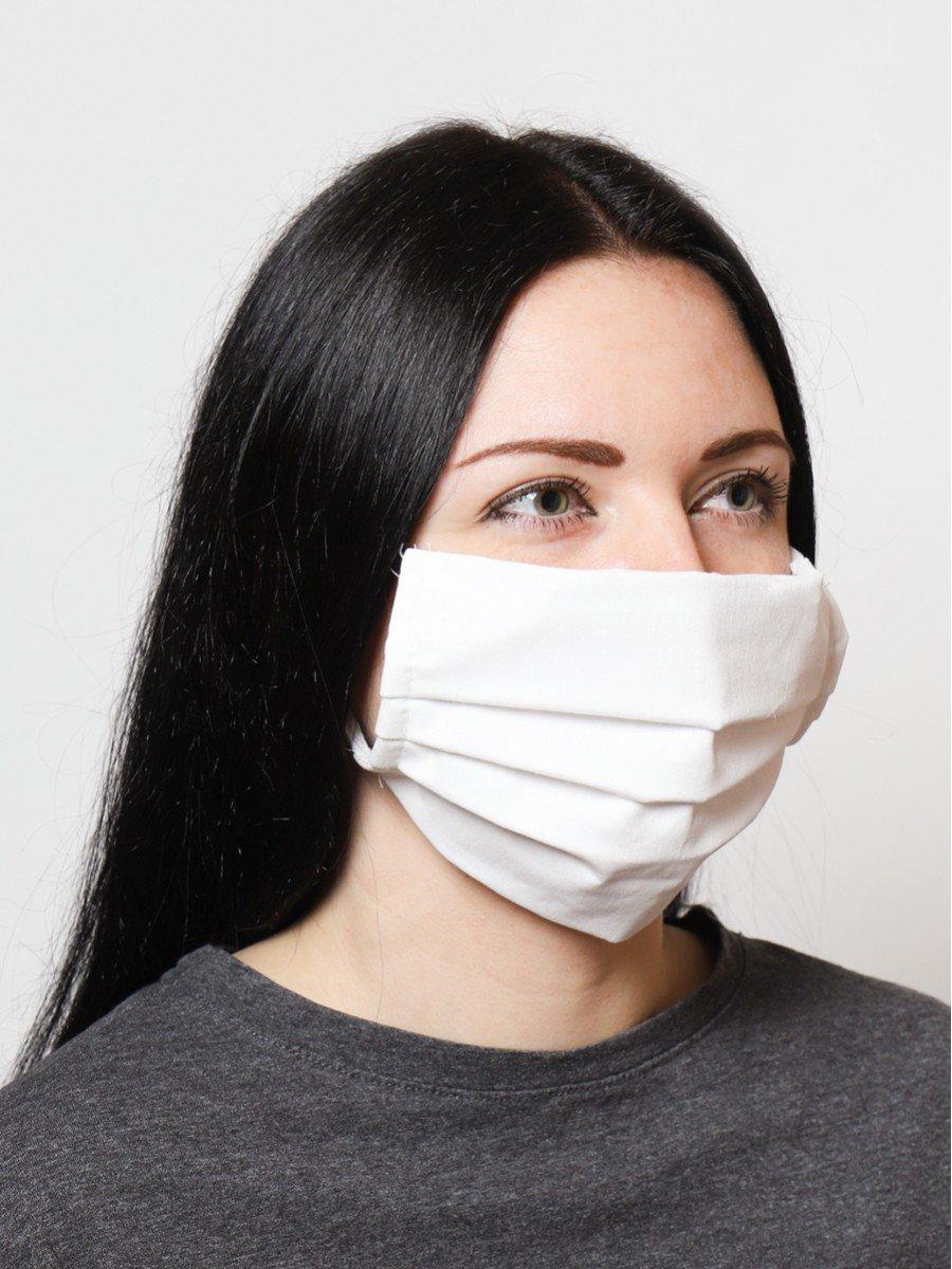Маска многоразовая общего пользования лицевая гигиеническая, цвет: белый