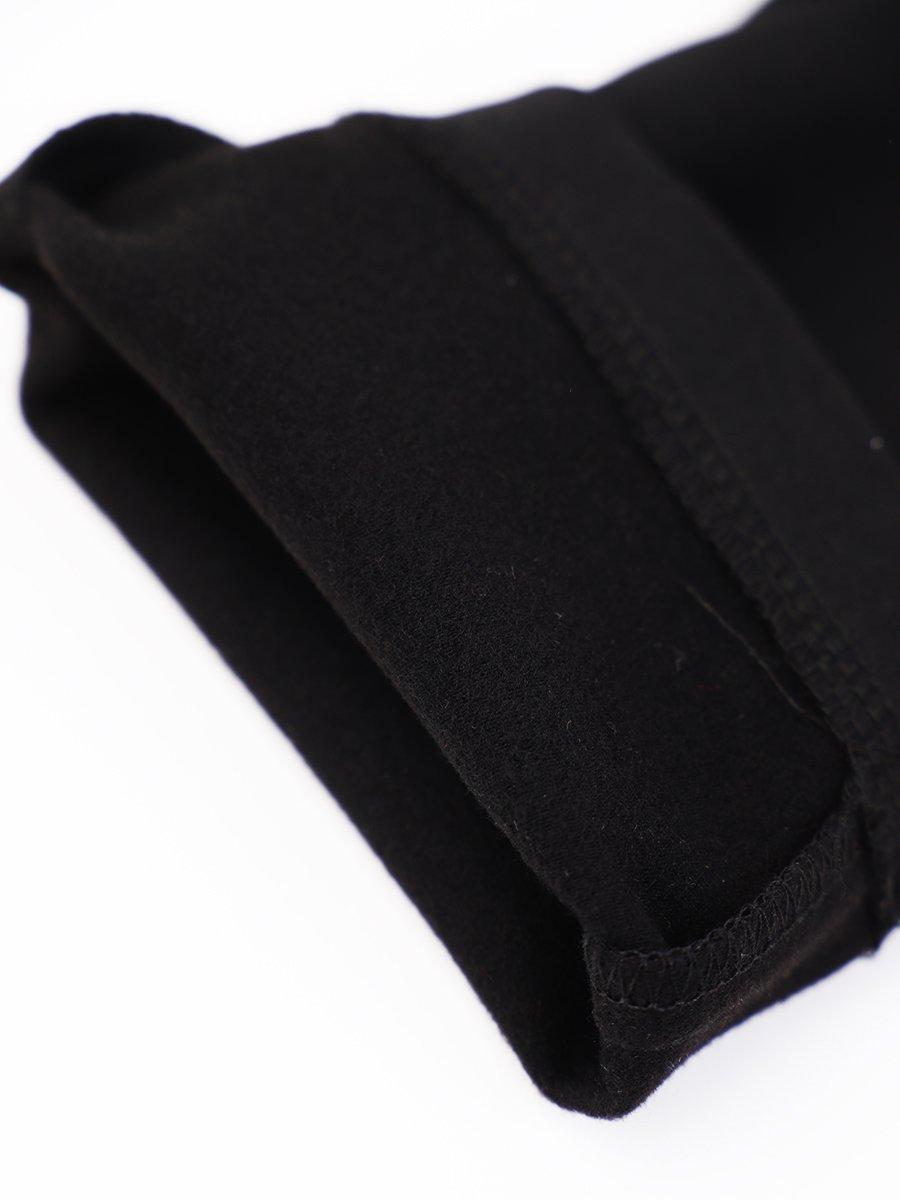Брюки зауженные со средней посадкой для девочки, цвет: черный