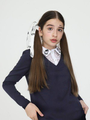 Джемпер-обманка трикотажная для девочки