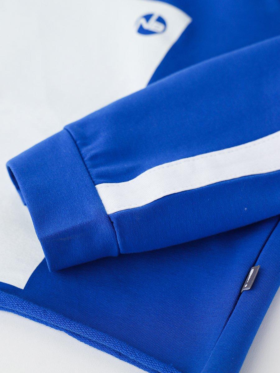 Костюм спортивный: свитшот укороченный и лосины, цвет: васильковый