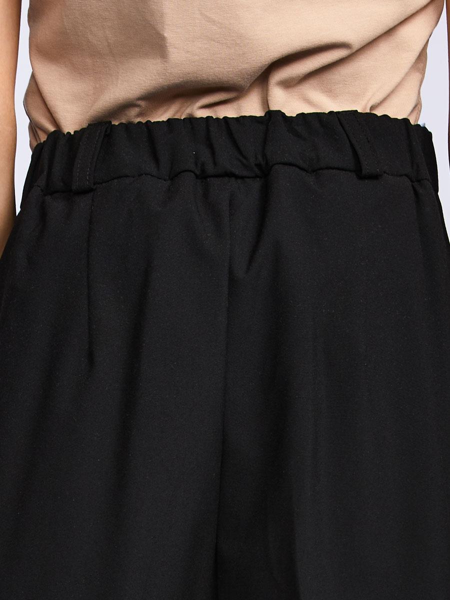 Брюки классические со средней посадкой для девочки, цвет: черный