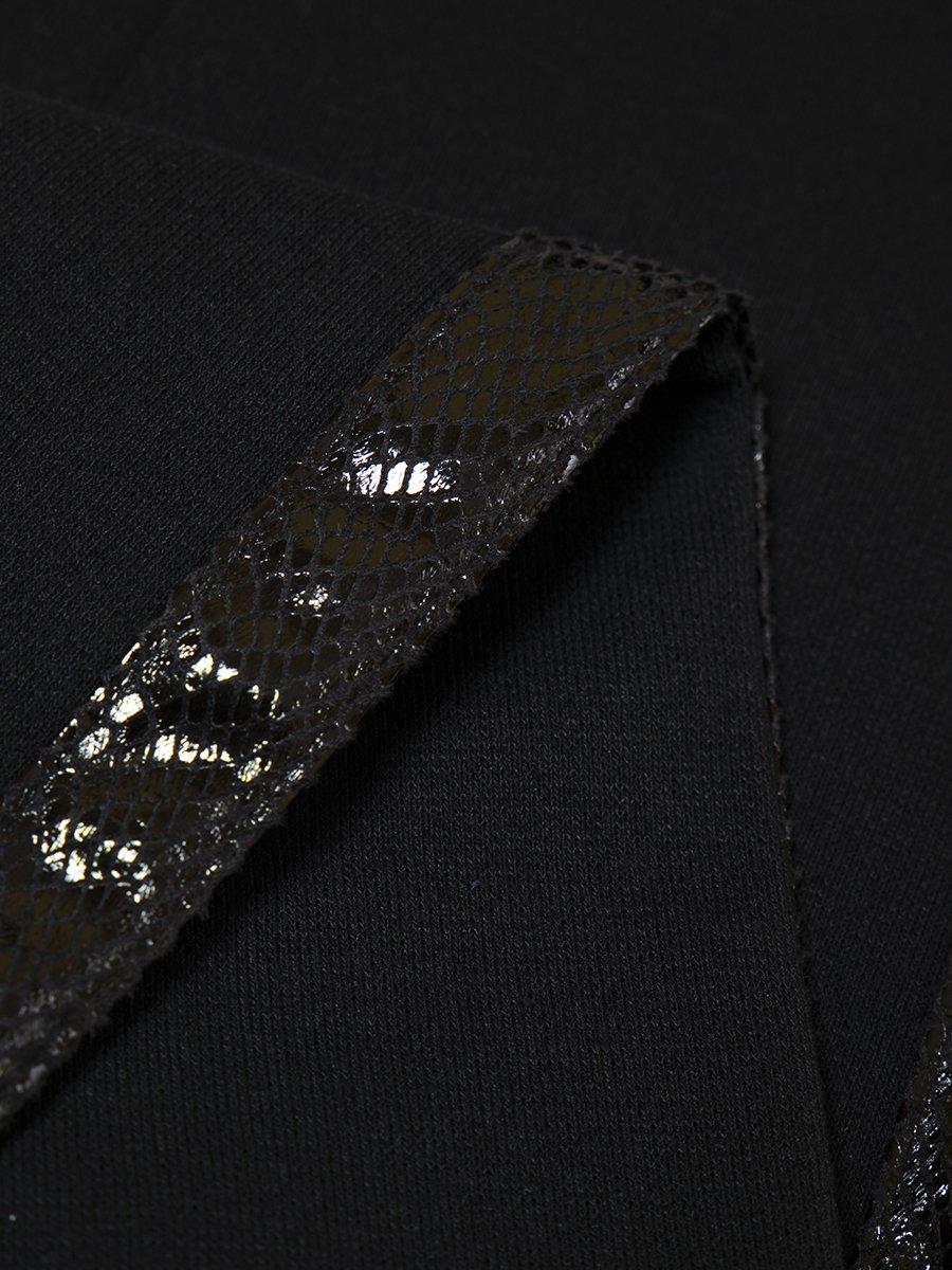 Лосины прилегающего силуэта с лампасами, цвет: черный