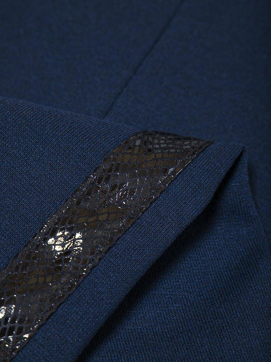 Лосины прилегающего силуэта с лампасами, цвет: темно-синий