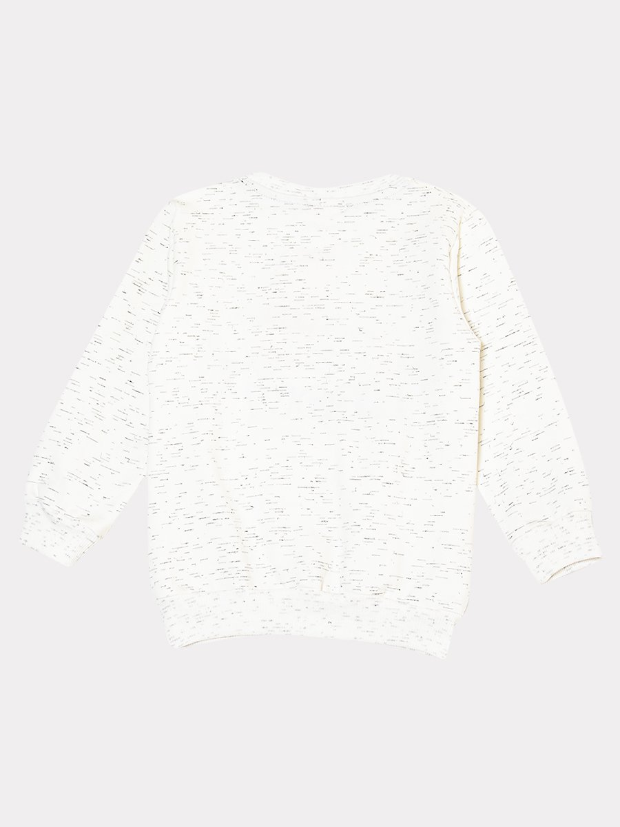 Комплект: толстовка и штанишки со средней посадкой, цвет: молочный