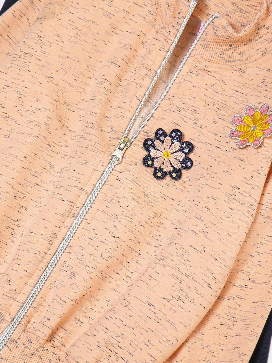Комплект: толстовка и штанишки со средней посадкой, цвет: пудра