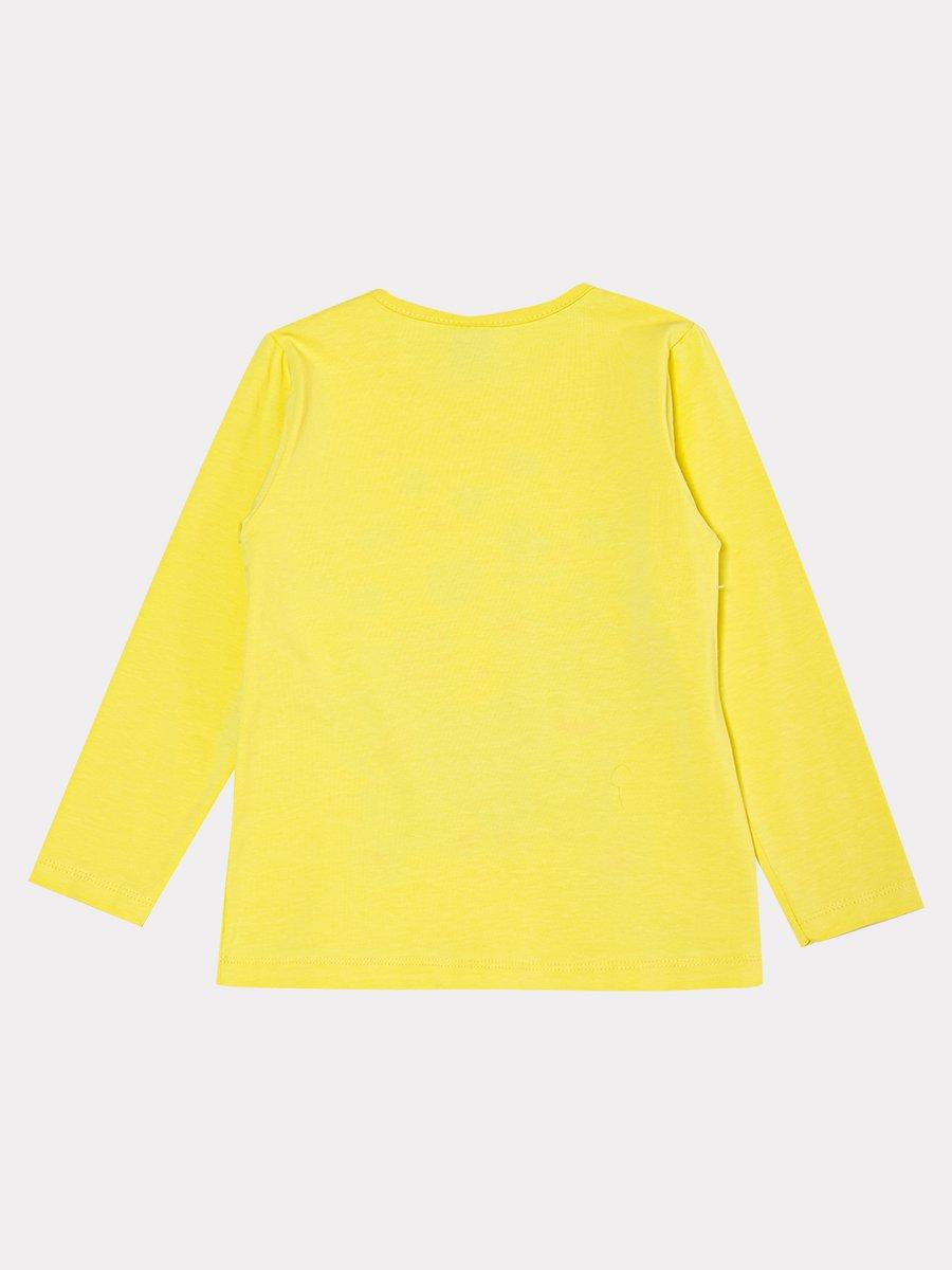 Комплект:лонгслив и лосины со средней посадкой, цвет: желтый