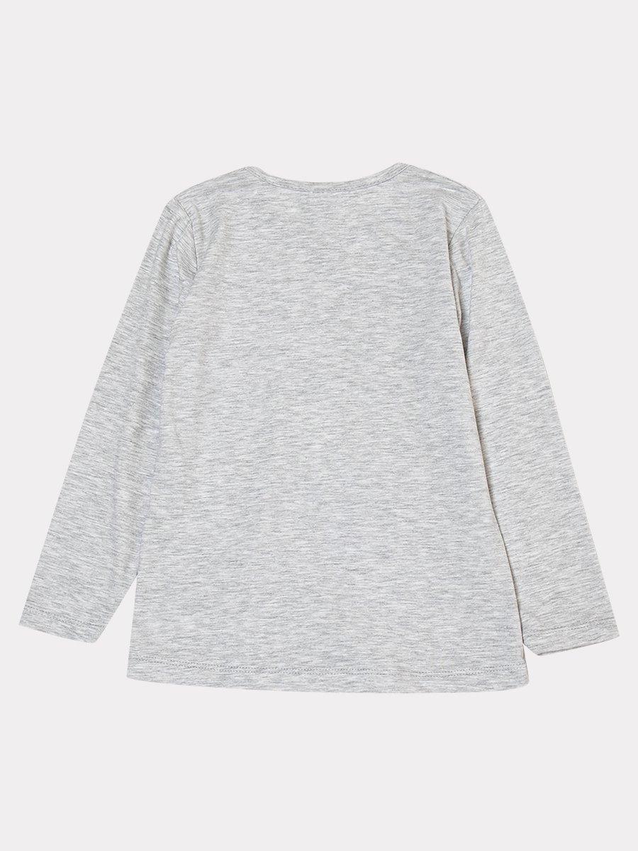 Комплект:лонгслив и лосины со средней посадкой, цвет: серый меланж
