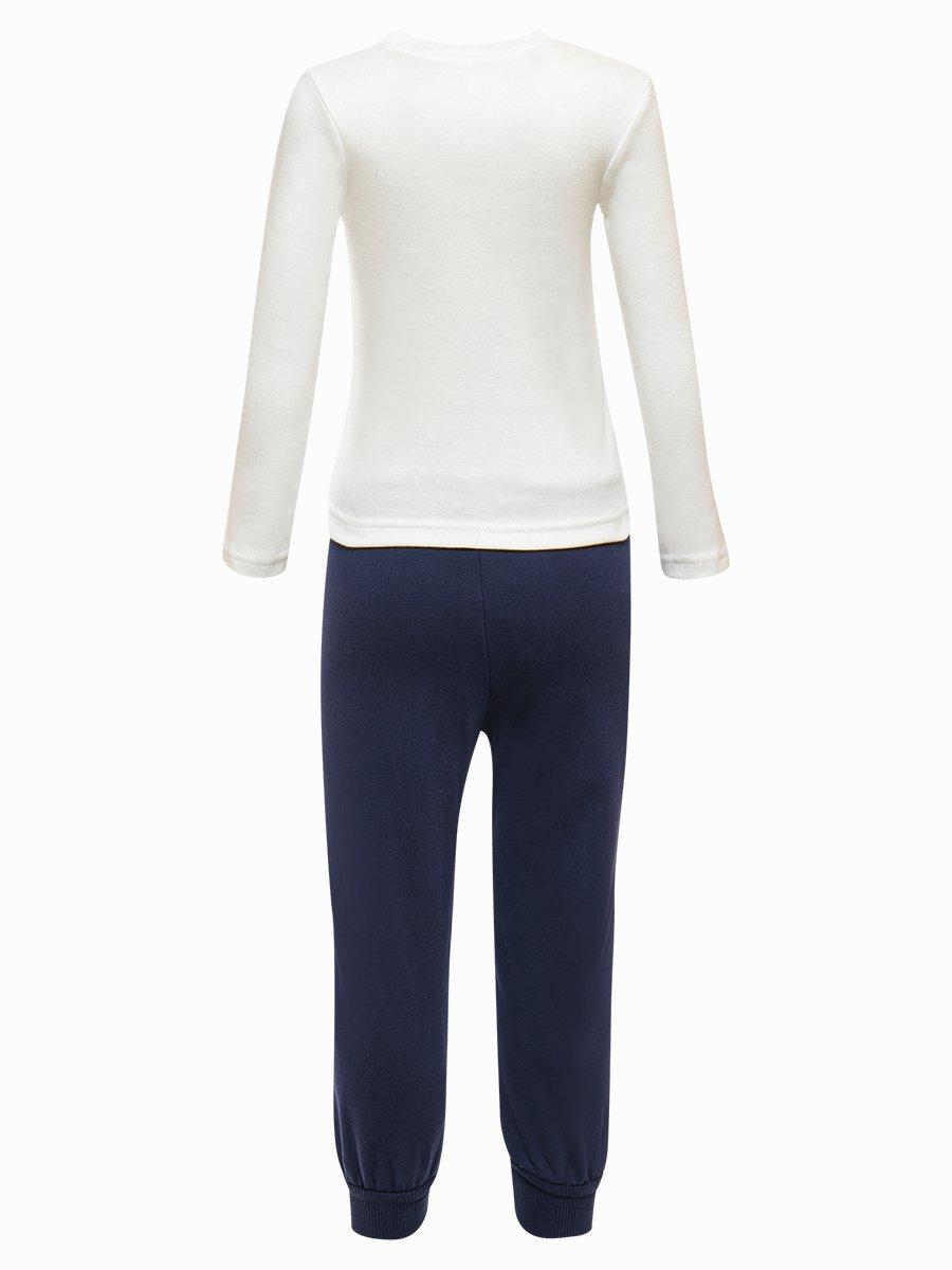 Комплект для девочки:лонгслив, штанишки и жилет на синтепоне, цвет: коралловый