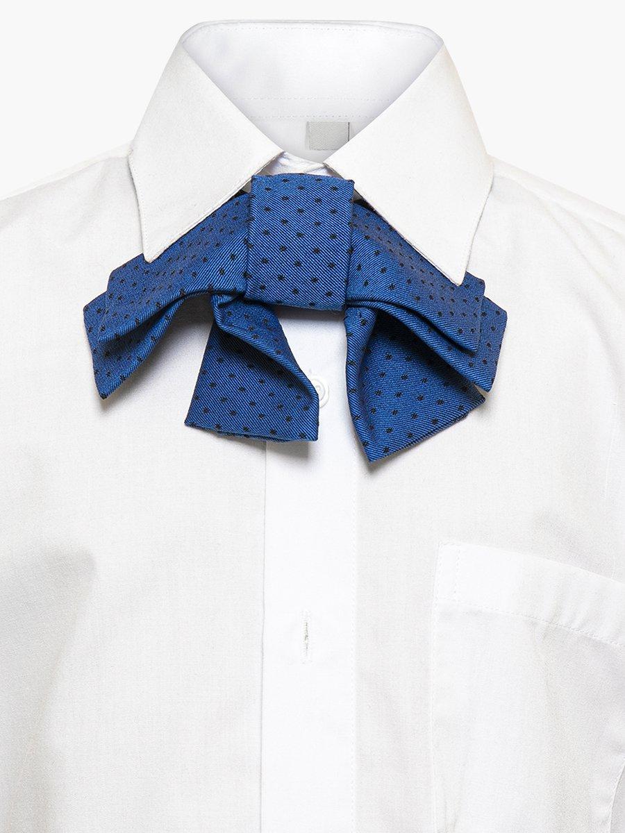 Галстук-бабочка для девочки с регулируемой застежкой., цвет: синий