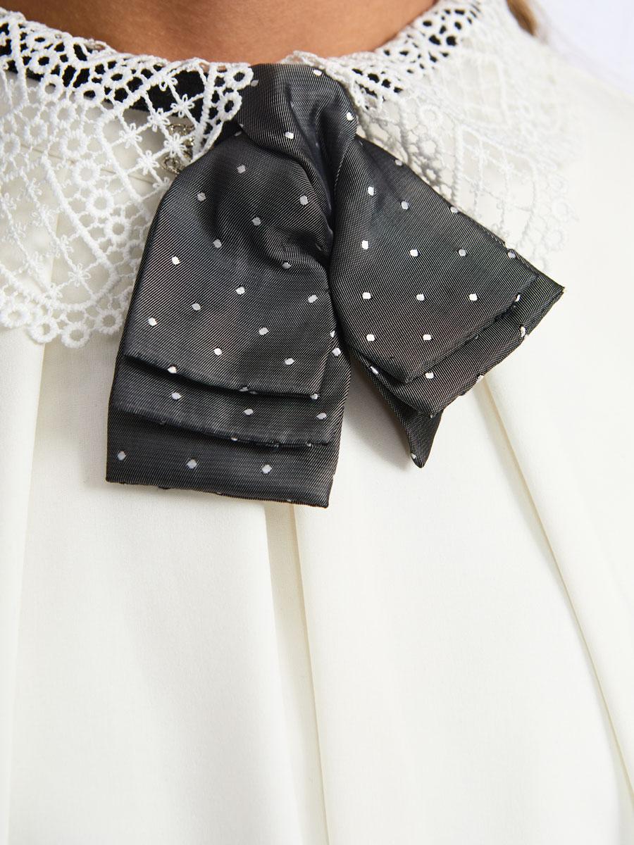 Галстук-бабочка для девочки с регулируемой застежкой., цвет: серый