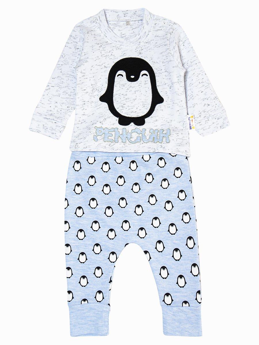 Комплект для мальчика: кофточка и штанишки, цвет: голубой