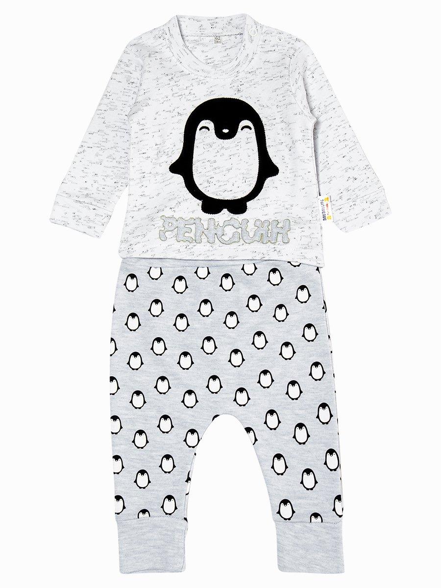 Комплект для мальчика: кофточка и штанишки, цвет: светло-серый