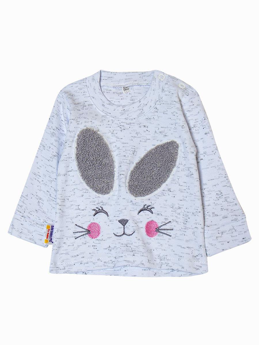Комплект для девочки: лонгслив и штанишки, цвет: серый меланж