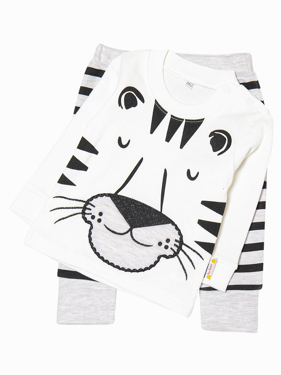 Комплект для мальчика: лонгслив и штанишки, цвет: молочный