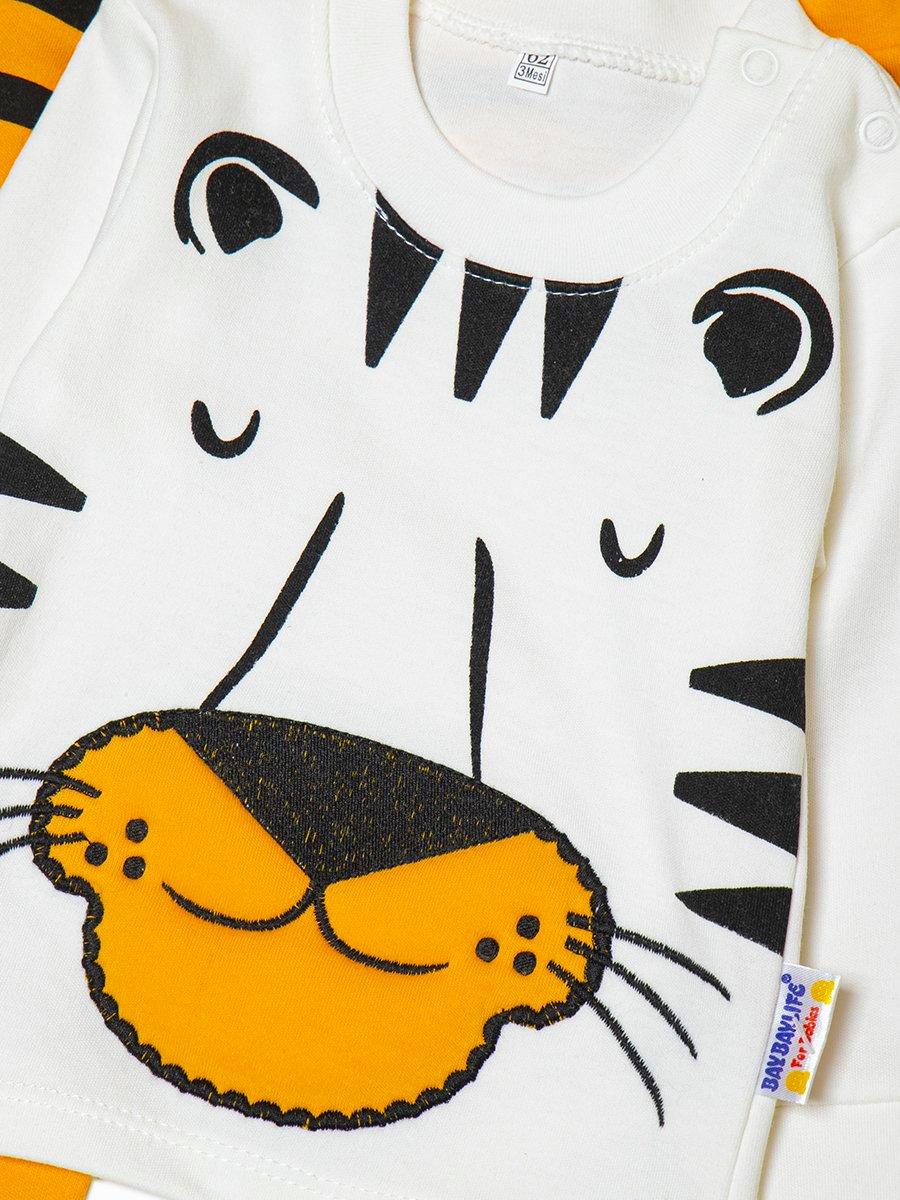 Комплект для мальчика: лонгслив и штанишки, цвет: желтый