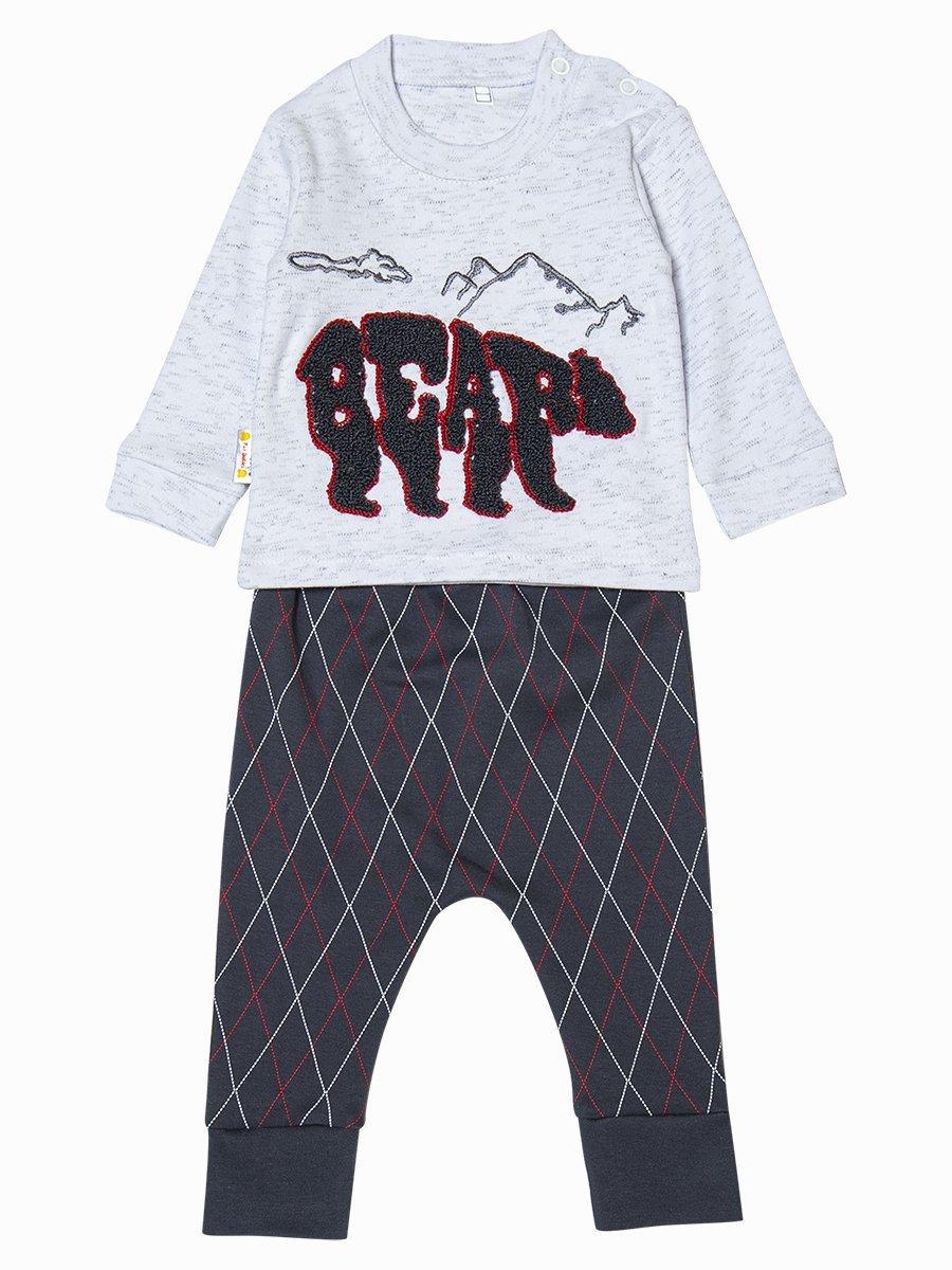 Комплект для мальчика: толстовка и штанишки, цвет: светло-серый
