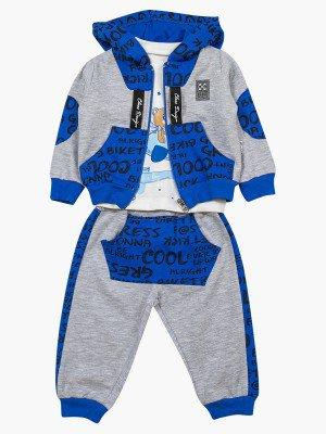 Комплект для мальчика: кофточка, толстовка и штанишки