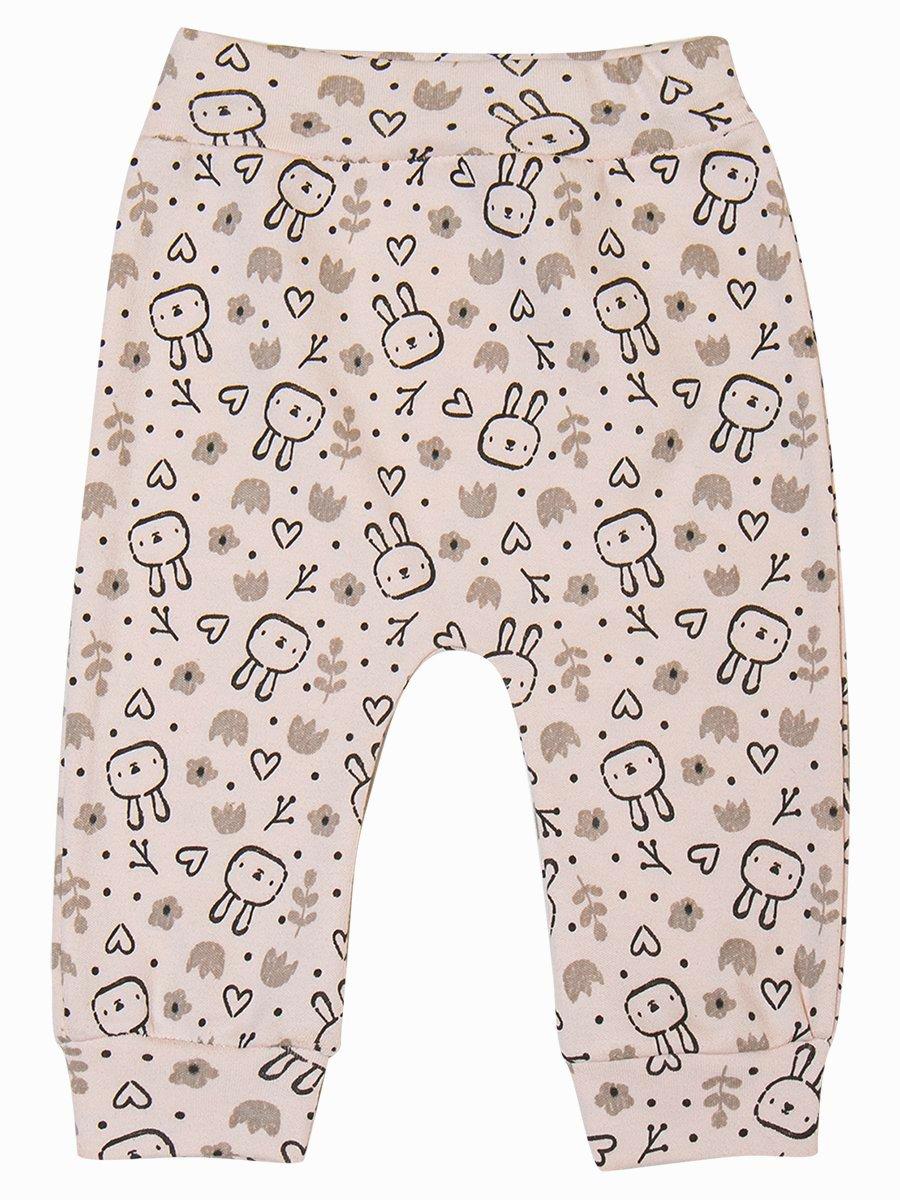 Комплект для девочки: толстовка и штанишки, цвет: пудра