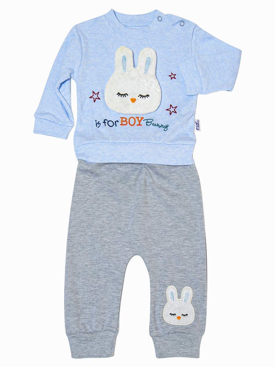 Комплект для мальчика: толстовка и штанишки, цвет: голубой