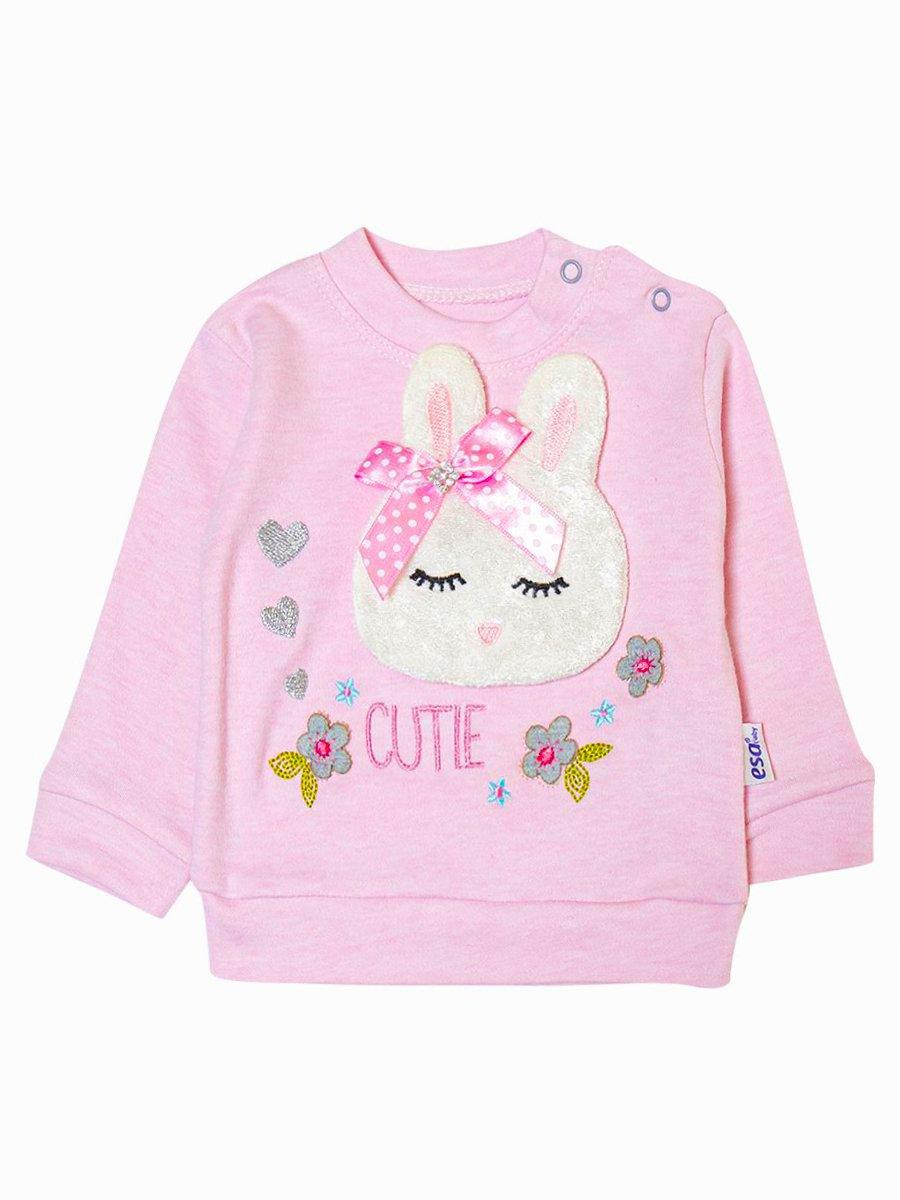 Комплект для девочки: толстовка и штанишки, цвет: светло-розовый