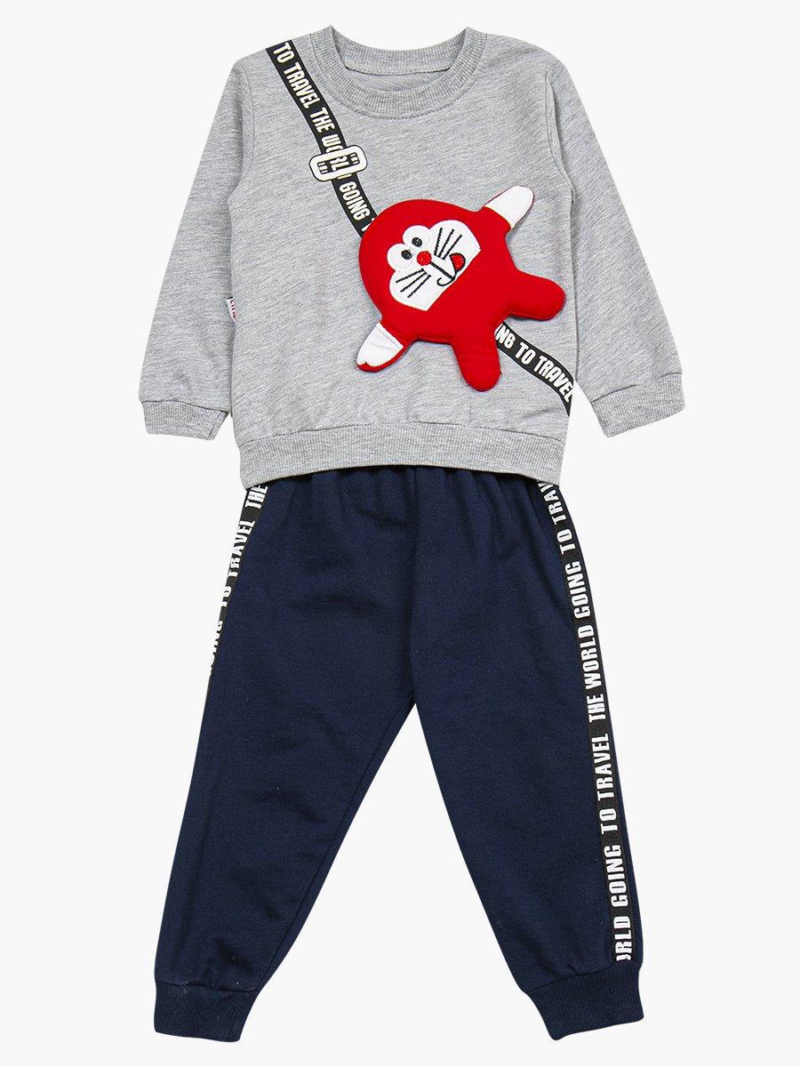 Комплект для мальчика: свитшот и штанишки, цвет: серый меланж